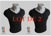 T-SHIRT AMINCISSANT TONE TEE TELE SHOPPING TAILLE M NOIR HIGHT STREET TV X2