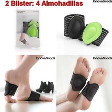 4 Almohadillas(2 blister) Unisex para Pies con Puente,banda compresión elástica