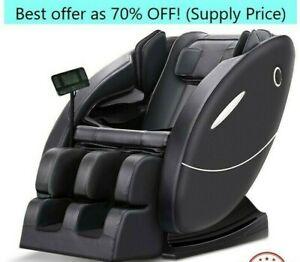 NEW BEST PRICE Zero Gravity Massage Chair HQ w/Heating & Music 4D 3D Foot Roller