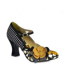 Stiletto Mary Janes Floral Textile Heels for Women