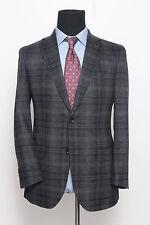 Ermenegildo Zegna ZZegna Black Grey Sport Coat Jacket Blazer EU 48R US 38R