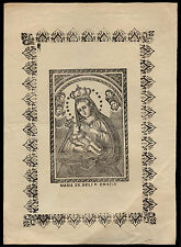 santino stampa popolare 1800 MARIA SS. DELLE GRAZIE CHE ALLATTA