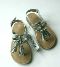 The Children's Place Silver Tassle Sandals size 8 Toddlers New in Package
