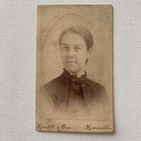 Antique CDV Photograph Beautiful Woman Knaffl & Bro Knoxville, TN