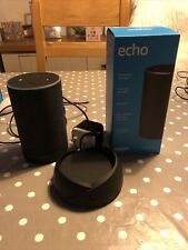 Amazon Echo (2nd Generation) With Portable Battery Base - Charcoal Fabric