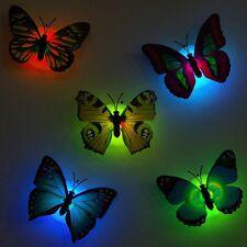 Butterfly LED Night Light Lamp Home Decorative Wall Sticker Nightlight Childrens
