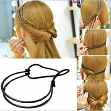 Adjustable Elastic Rope Girls Double Layer Head Band Hairband Hair Hoop