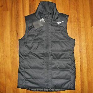Nike Full Zip Puffer Vest Women S AQ3568-060 Dark Grey Charcoal New $100