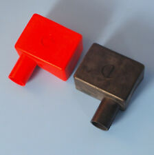 Quality Pair Battery Terminal Covers Positive & Negative Red (RH) Black (LH)