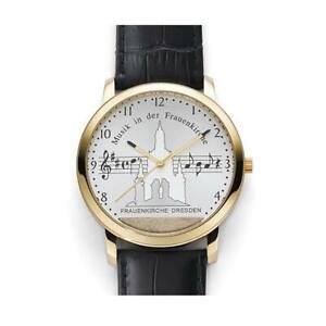 Frauenkirchen Uhr Musik in der Frauenkirche Dresden Gold Herren Armbanduhr
