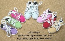 Doll Shoes, 58mm slim LIGHT BLUE Hi Top Sneakers