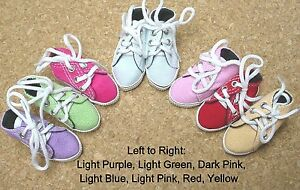 Doll Shoes, 58mm slim LIGHT GREEN Hi Top Sneakers