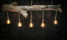 Driftwood Branch Kitchen Island over Table Lighting,Dimmable vintage Filament
