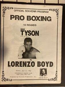 Mike Tyson PRO BOXING OFFICIAL PROGRAM TYSON VS BOYD JULY 11, 1986 ORIGINAL