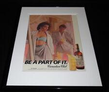 1986 Canadian Club Whisky Girl in Bra Framed 11x14 ORIGINAL Advertisement