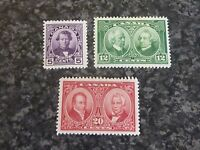 CANADA POSTAGE STAMPS SG271-273 LIGHTLY MOUNTED MINT