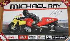 2011 Michael Ray signed Star Racing Buell Pro Stock Motorcycle NHRA poster