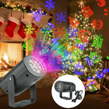 Christmas Laser Projector Moving  Xmas Jingle LED Lights Rotating Landscape Lamp