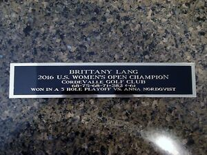 Brittany Lang Nameplate For A 2016 U.S. Women's Open Golf Ball Case 1.25 X 6
