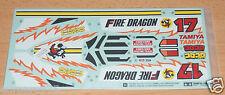 Tamiya 58403 Fire Dragon (Re-Release), 9495532/19495532 calcomanías/Pegatinas, nuevo en paquete