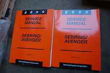 2000 DODGE CHRYSLER SEBRING AVENGER Repair Shop Service Manual overhaul book OEM