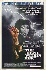 THE DEVIL WITHIN HER Movie POSTER 27x40 Joan Collins Eileen Atkins Ralph Bates