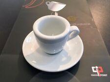 4x Espressotasse Nuova Point Palermo, dickwandig Feldspat, mit Untertasse weiß