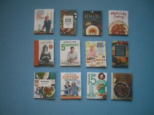 Dolls House miniatures accessories - cook books x 12