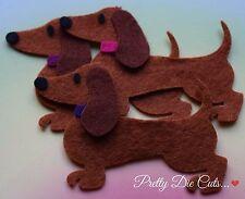 Felt Sausage Dogs, Felt Dachshunds (pack of 3) Die Cut Dog Craft Embellishments