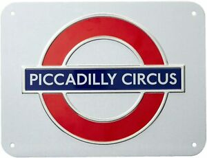 London Underground Piccadilly Circus Roundel Small Metal Sign (gwc)
