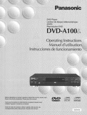 Panasonic DVD-A100 DVD Player Owners Instruction Manual