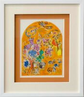 "Marc CHAGALL Lithograph LIMITED Edition ""Joseph"" w/ Cat .Ref.c49 w/Gallery Frame"