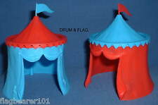 TIMPO Knight's MEDIEVALE tende x 2. Jousting Tenda. scala 1/32. ROSSO & Blue