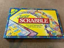 Vintage Junior Scrabble by Spears Games 1994 - 2 Word Games in One -Retro- Board