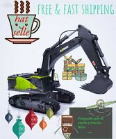 Huina 1593 22 Channel RC Excavator 1:14 strong arm Metal Bucket - 2021 Model