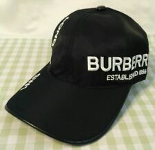 Black Unisex BURBERRY LONDON Hat Adjustable Casual Baseball Cap
