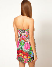 £ 398 ALICE MCCALL ANOTHER moment Floral Bandeau Boob Tube dress 10 6 40