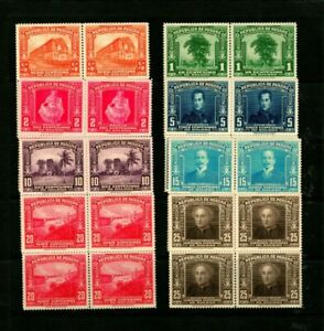 14460 PANAMA 1936 SCOTT 278 - 285 VARIOUS DESIGNS MNH BLOCKS $160