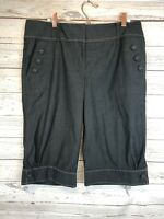 Cartonnier Anthropologie Retro Newsboy Bermuda Shorts Size 10 Buttons