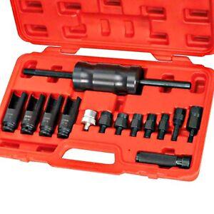Diesel Injector Puller Extractor Kit Common Rail Bosch Delphi Siemens Denso 14pc