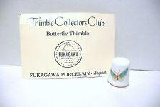 """THIMBLE PORCELAIN FUKAGAWA JAPAN """"BUTTERFLY""""  TCC 5/85 W/COA"""