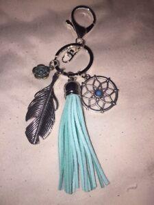 Turquoise Tassel Dreamcatcher Key Ring/ Bag Charm