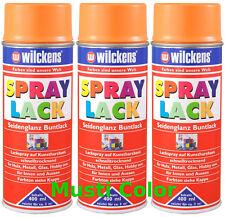 3x400ml Lackspray Farbspray Sprühfarbe Seidenglanz Farbe Pastellorange  RAL2003