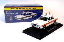 FORD GRANADA Mk1 AVON & SOMERSET POLICE CAR  - 1:43 Diecast Model Ex Mag Atlas