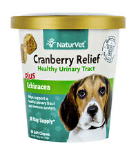 NaturVet CRANBERRY RELIEF and Echinacea Soft Chew Dog Urinary Tract 60 count
