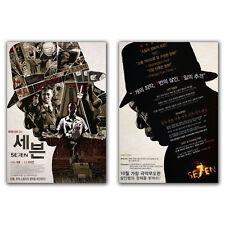 Se7en Seven Movie Poster Brad Pitt Morgan Freeman Gwyneth Paltrow David Fincher