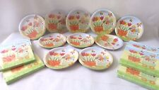 Easter Holiday Paper Disposable Party Tableware Bunny Plates & Napkin Lot of 188