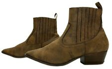 HEAD OVER HEELS by DUNE PAVEL Ladies Womens Boots Size 6 EU 39 Distressed Ankle