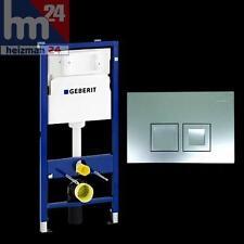 Geberit Duofix Basic WC Vorwandelement UP100 mit Delta 50 seidenglanz-chrom-matt