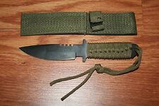 48 NEW WHOLESALE LOT FIXED BLADE TACTICAL SURVIVAL KNIFE PARA-CORD HANDEL DEAL